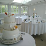 Carla Lily and Mango Lily Wedding Cake